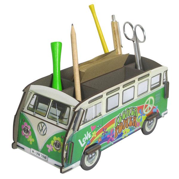 stiftebox hippie bus werkhaus bus tischablage stiftehalter. Black Bedroom Furniture Sets. Home Design Ideas