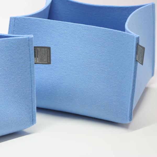 filzkorb himmelblau aufbewahrungskorb aufbewahrungsbox. Black Bedroom Furniture Sets. Home Design Ideas
