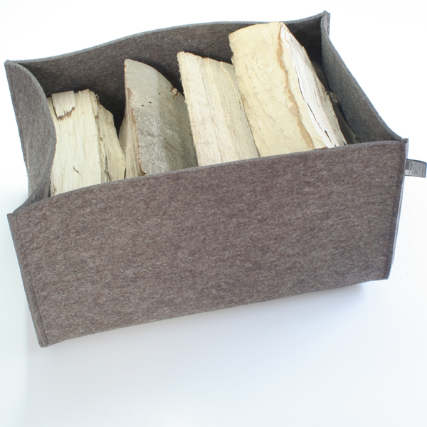 holzkorb filz gro 5 mm gro er filzkorb grau braun. Black Bedroom Furniture Sets. Home Design Ideas