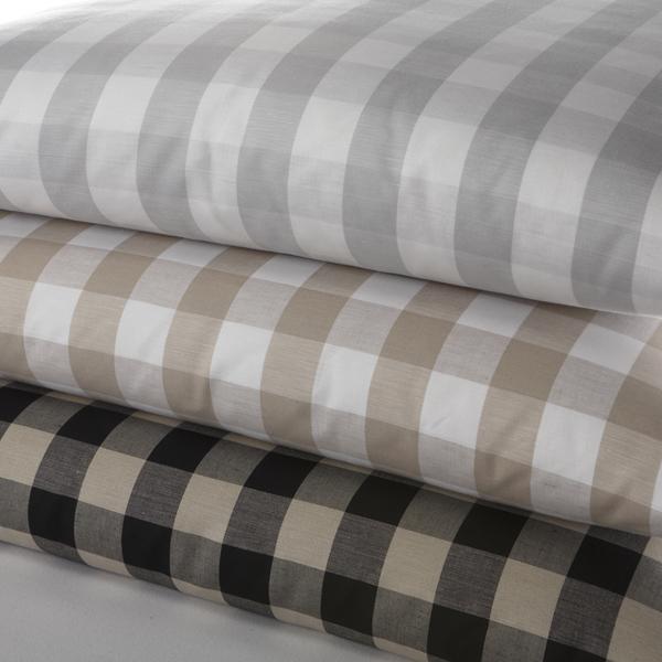leinen bettw sche carr wei platin halbleinen leinenbettw sche. Black Bedroom Furniture Sets. Home Design Ideas