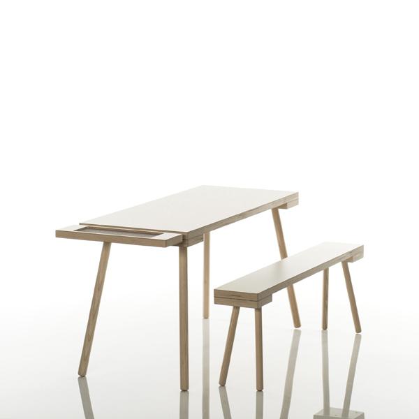 Kindermöbel holz  Kinderbank Holz sirch - Kindersitzbank weiß - Design-Kindermöbel