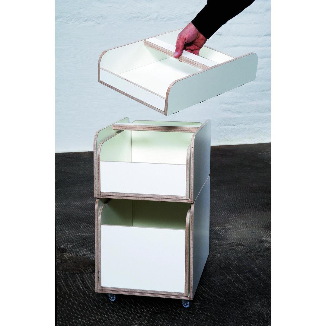rollcontainer wei zum kinderschreibtisch design dorfhaus. Black Bedroom Furniture Sets. Home Design Ideas