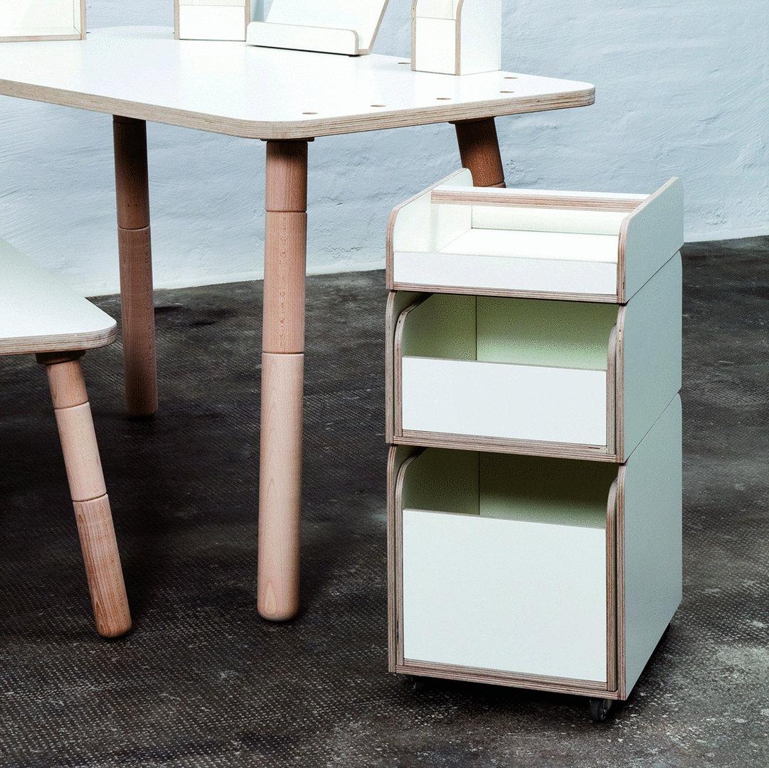Kinderschreibtisch design  Rollcontainer weiß zum Kinderschreibtisch Design -dorfhaus
