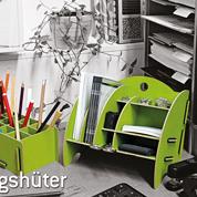 schreibtischablage mini organizer gr n werkhaus b ro utensilo. Black Bedroom Furniture Sets. Home Design Ideas