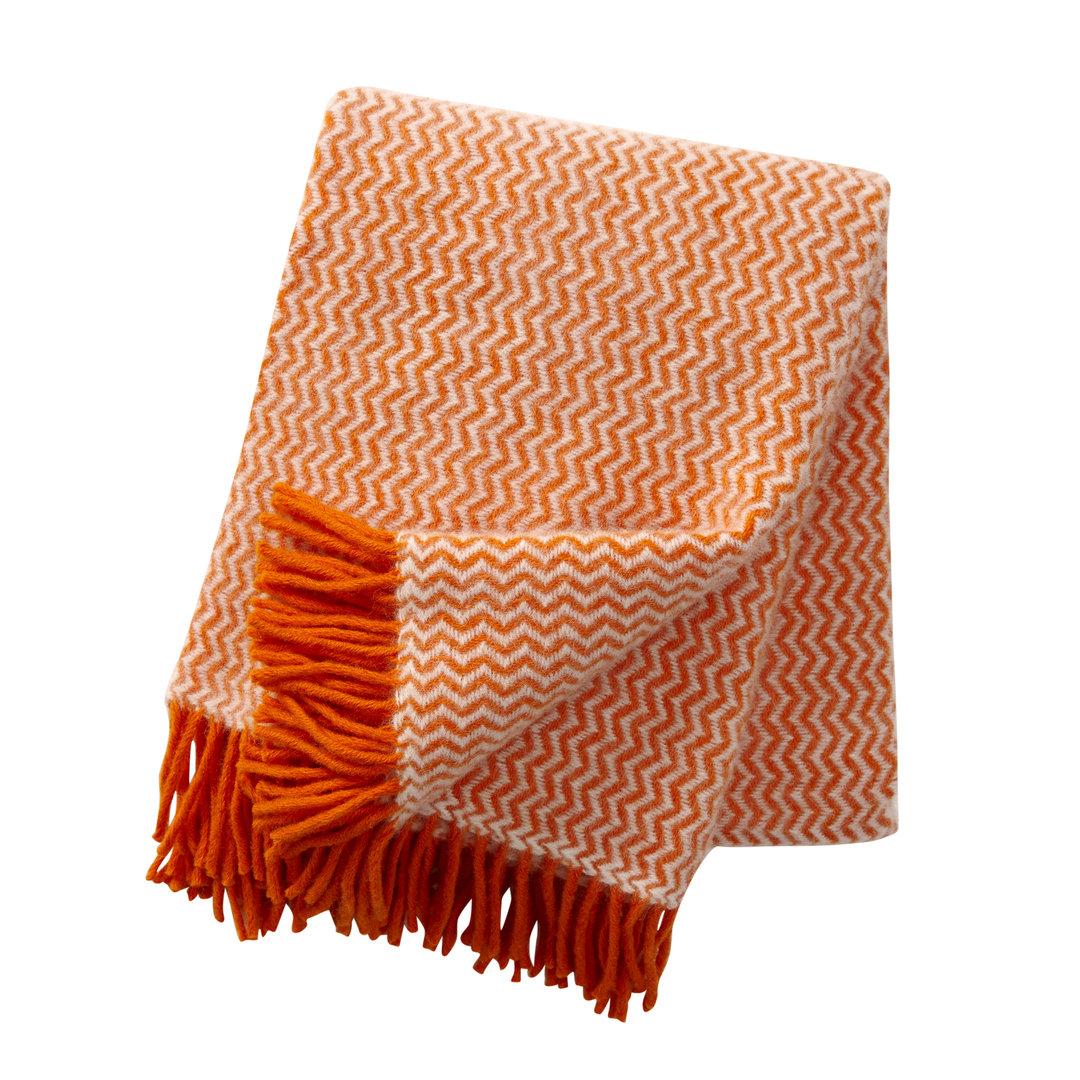 klippan decke wolle 130 200 orange wolldecke sofadecke dorfhaus. Black Bedroom Furniture Sets. Home Design Ideas