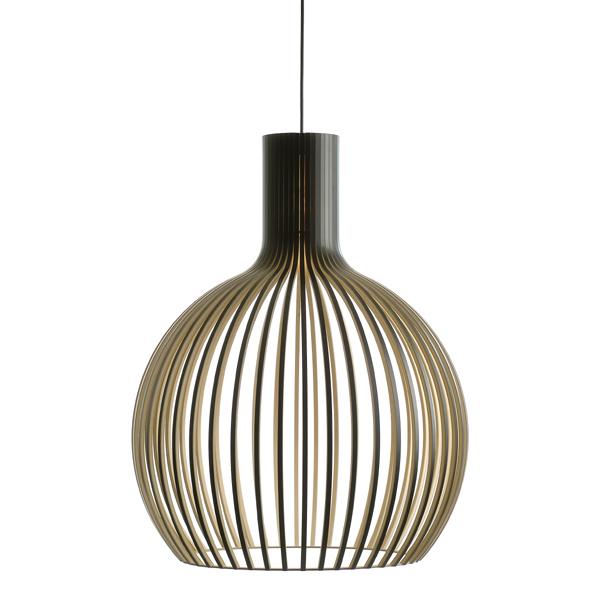 Hängeleuchte Holz secto octo 4240 schwarz design pendelleuchte aus holz dorfhaus