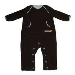 Baby Frottee Overall Chocolate