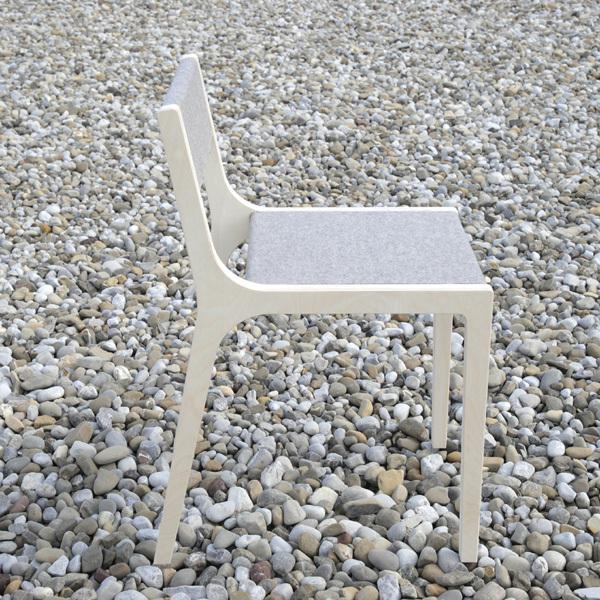 schreibtischstuhl kind kinderstuhl birke filz grau design kind. Black Bedroom Furniture Sets. Home Design Ideas