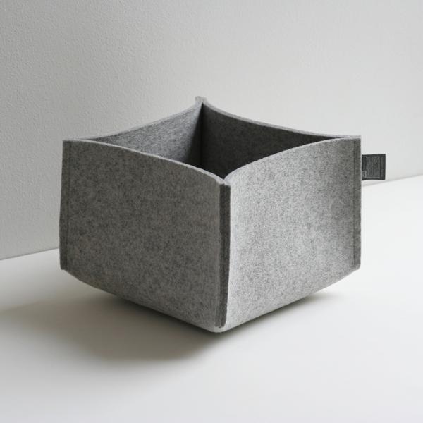 filzk rbe aufbewahrungsk rbe aus filz utensilos von tuchmacherin. Black Bedroom Furniture Sets. Home Design Ideas