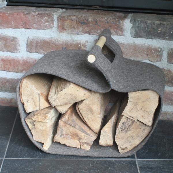 kaminholztrage filz trage f r kaminholz nachhaltige produkte. Black Bedroom Furniture Sets. Home Design Ideas