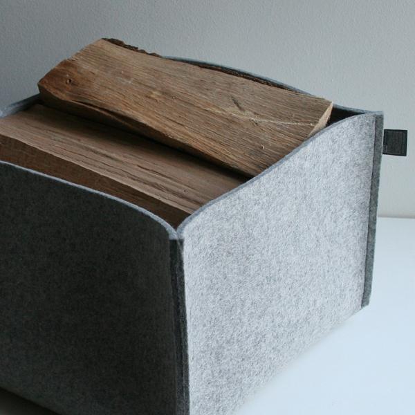 kaminholzkorb filz filzkorb aufbewahrungskorb filz dorfhaus. Black Bedroom Furniture Sets. Home Design Ideas