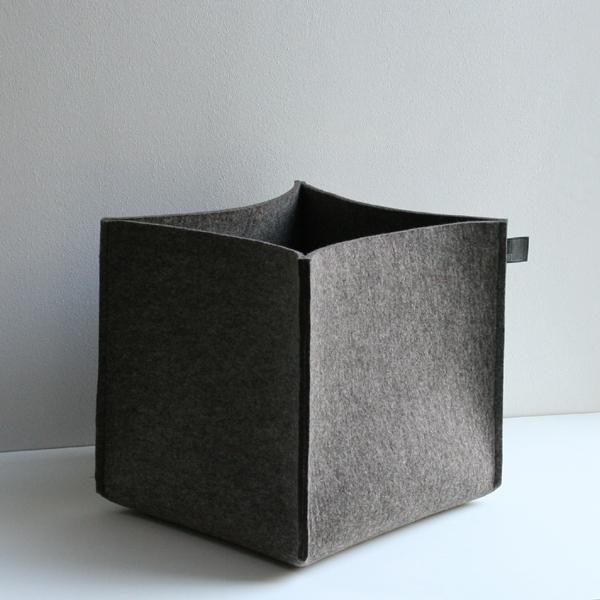 filzk rbe aufbewahrungsk rbe aus filz utensilos von. Black Bedroom Furniture Sets. Home Design Ideas