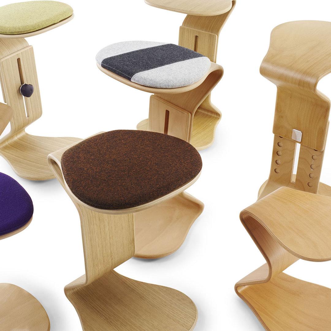 Kinderschreibtischstuhl  Gesundheitshocker medium Sitzpolster