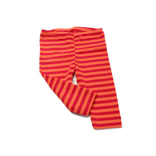 Wolle-Seide Baby Leggings Rot-Orange