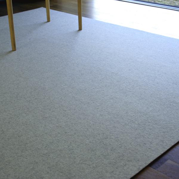 Filzteppich  Filzteppich 180x300 weiß-meliert Teppich Schurwolle online