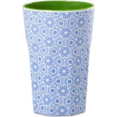Melamin Becher groß Rice Blue and White Marrakesh Print