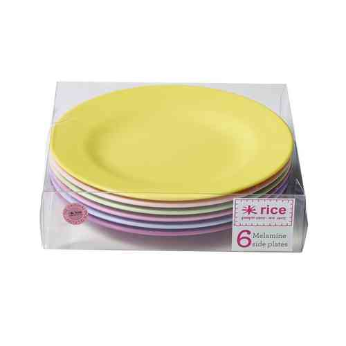 Melamin Teller rund Sideplate Set Girly Colours Rice