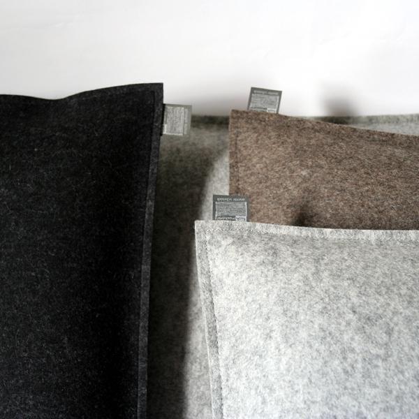 Filzkissen Couchkissen 40x60 Graubraun Meliert Sofakissen Filz