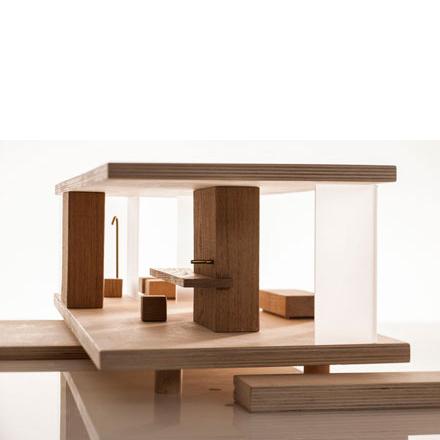 puppenhaus holz möbliert modern modular sirch design - dorfhaus,